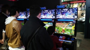 A typical games arcade in Tokyo